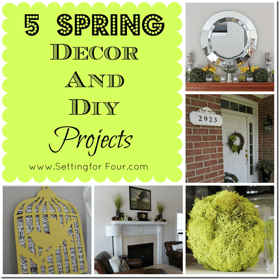 5 Spring Decor and DIY Projects from Setting for Four