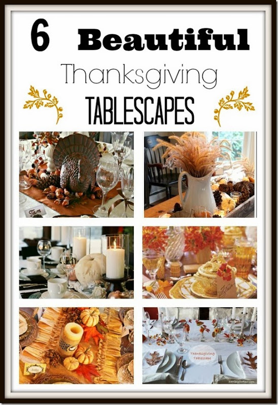 who wants some thanksgiving tablescape ideas setting for four