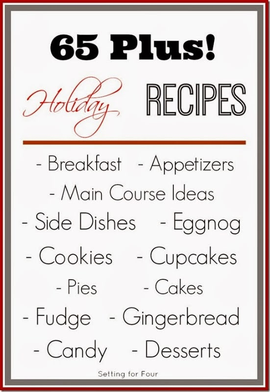 65 Plus Delicious Holiday Recipes | www.settingforfour.com