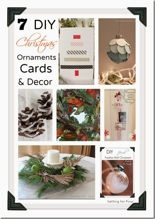 7 DIY Beautiful Christmas DIY Projects: Christmas Ornaments, Wreaths, Cards, Decor to Make