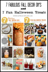 Make these 7 Fabulouls Fall DIY Decor Projects and Halloween Treats! | www.settingforfour.com