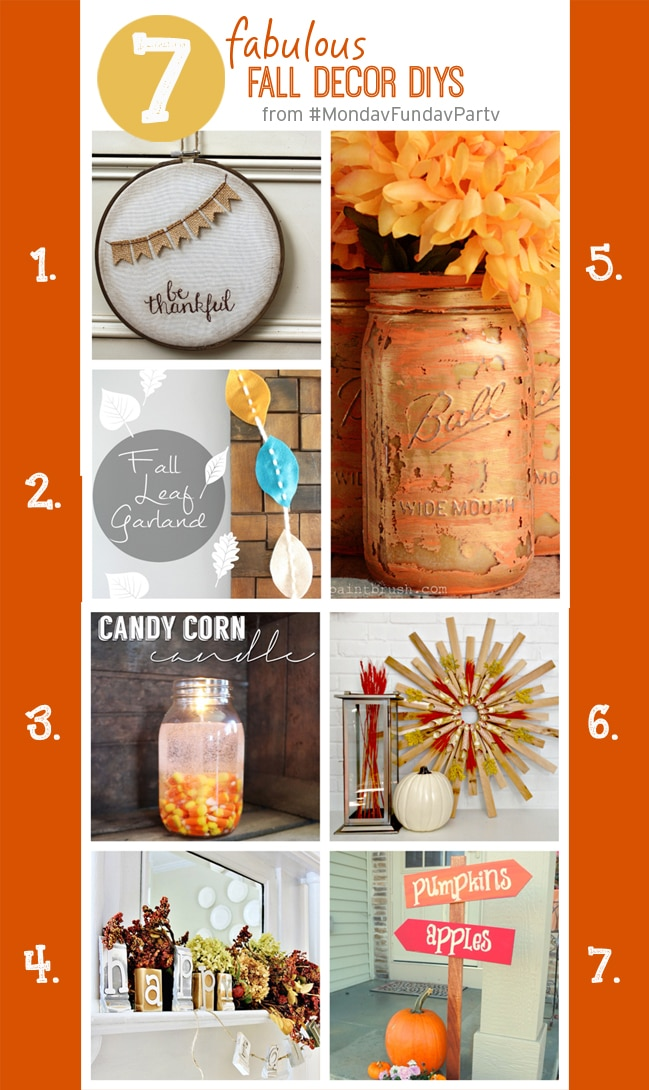 7 Fabulous Fall Decor DIY Ideas to decorate your home for Autumn.
