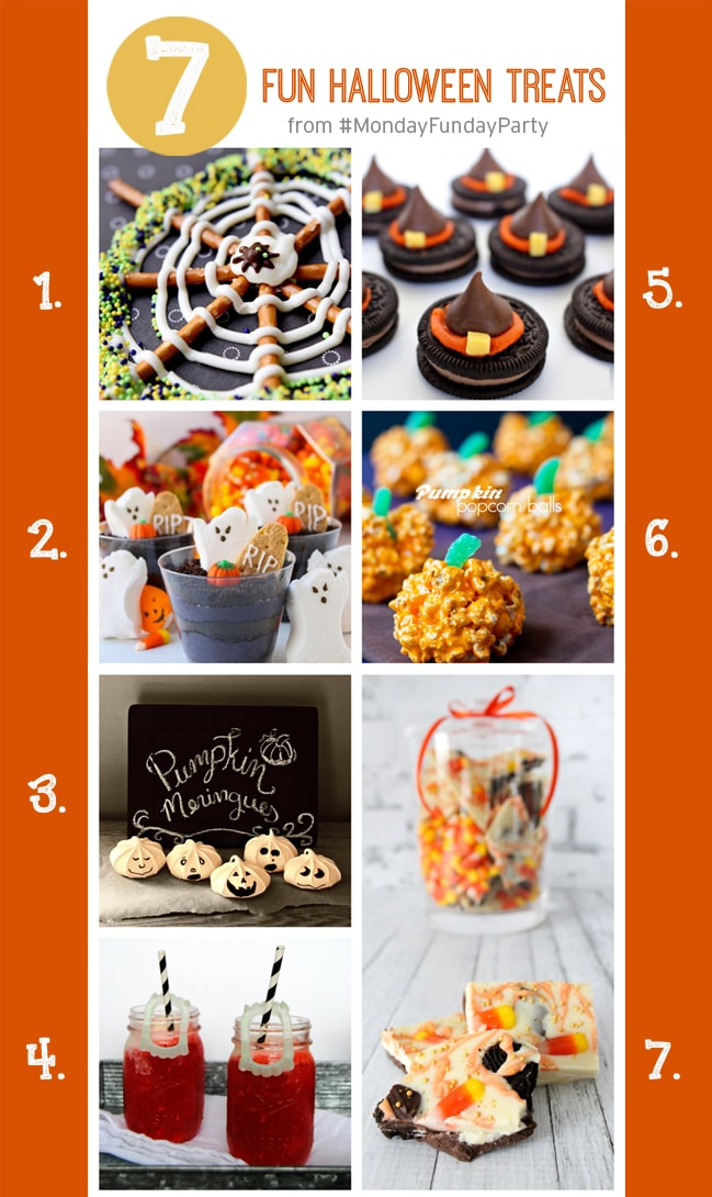 7 Fun Halloween Recipe Treats for the kids and Halloween parties.