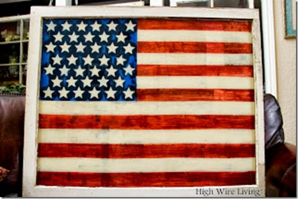 American Flag from High wire Living