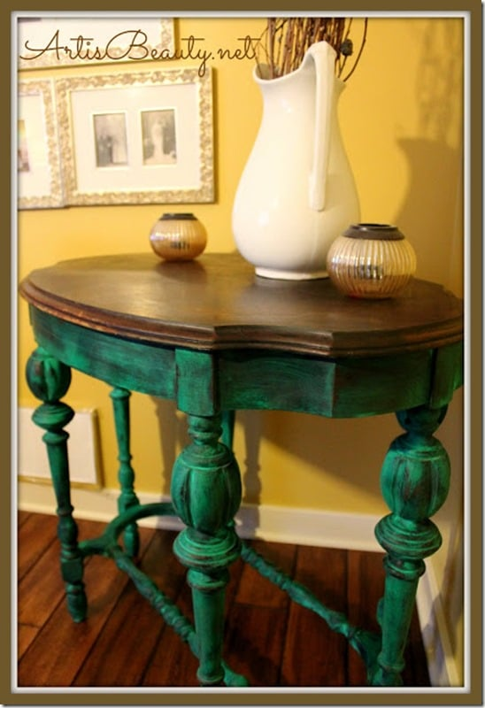 Emerald Green Table