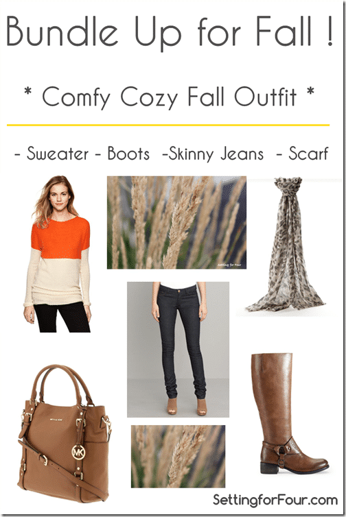 Bundleup for Fall. How to get this Comfy Cozy Fall Fashion Outfit from Setting for Four