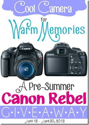 Canon Rebel Giveaway from Setting for Four