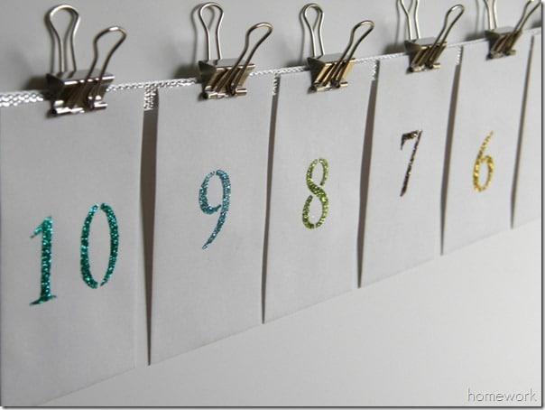 Carolyn's Homework - Glittery New Year's Countdown Banner