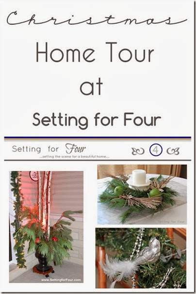 Christmas Holiday Home Tour at Setting for Four