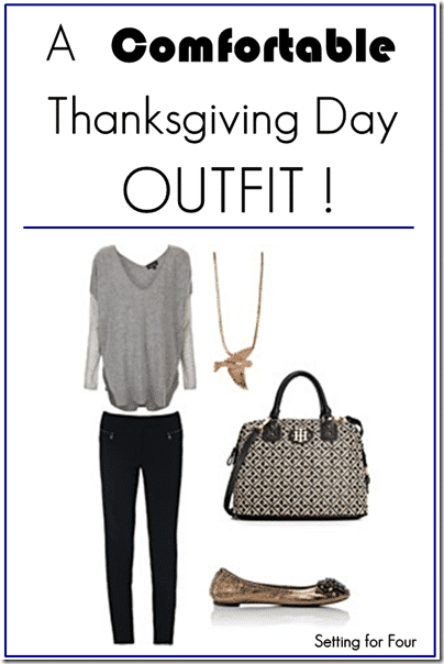 Chic and Comfortable Thanksgiving Day Outfit for Her