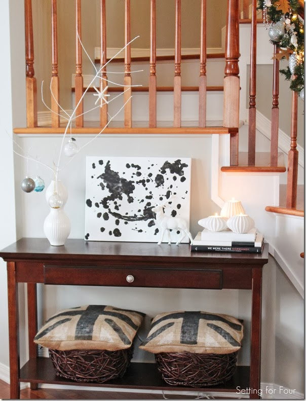 Console Table with Holiday branch tree