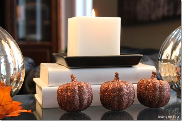 How to decorate a table for Fall and create a fall vignette.