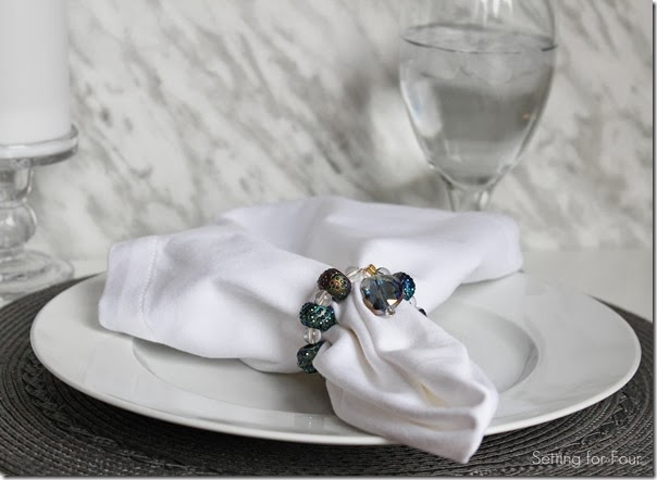 DIY Beaded Napkin Ring Tutorial