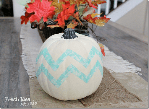 DIY-Chevron-Pumpkin