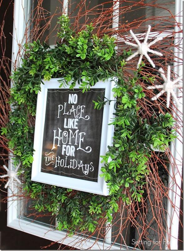 DIY Christmas Wreath with Framed Printable