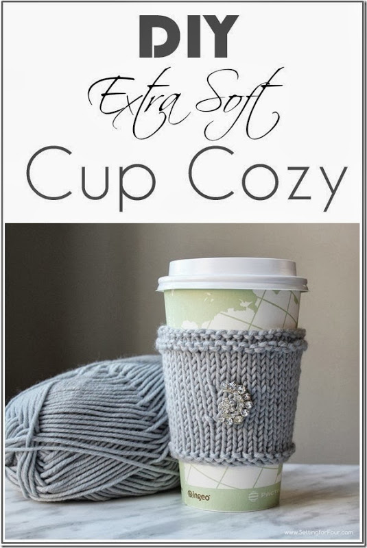 Love hand knit projects? Make this quick and easy DIY Extra Soft Knitted Cup Cozy! This is a beautiful gift idea and fun yarn craft to make! See the knitting tutorial and supply list!