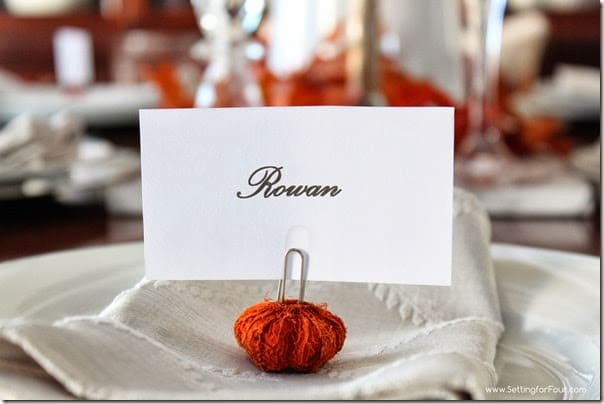 DIY Place Card from Setting for Four