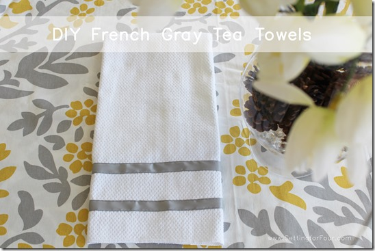 DIY Ribbon Towel from Setting for Four #diy #craft #towel #ribbon