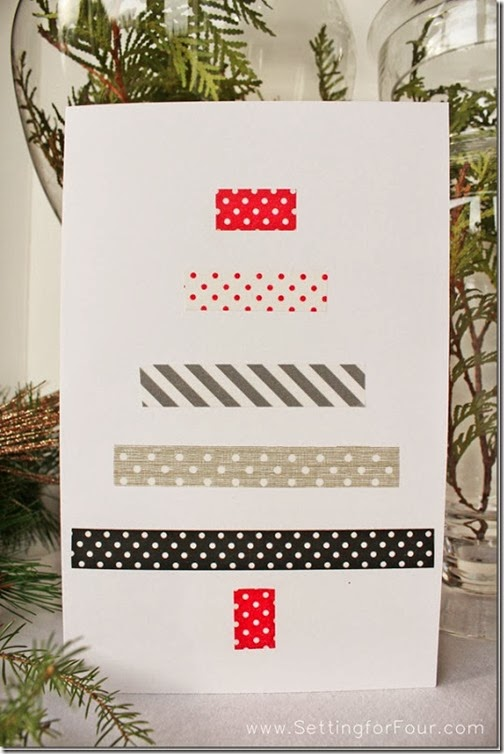DIY Washi Tape Christmas Tree Holiday Card