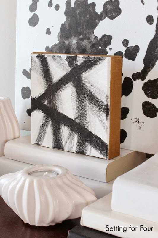DIY West Elm Inspired Canvas Art - easy to make! #diy #art #tutorial