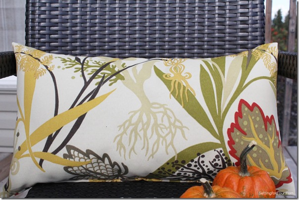 Autumn Print Pillow handmade