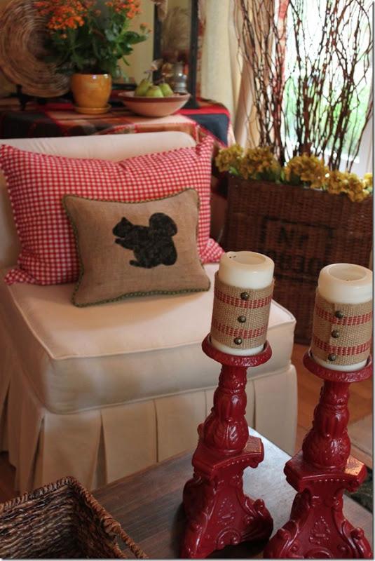 DIY Burlap Squirrel Pillow
