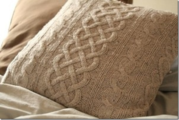 DIY Cable Knit Pillow