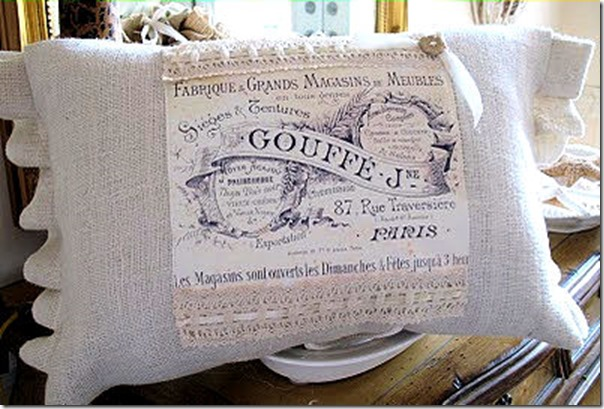 DIY French Graphic Pillow