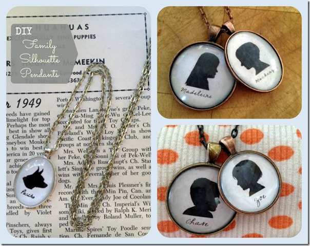 DIY Silhouette Pendants pet kids overlay