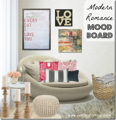 Decor - Moodboard by Setting for Four. See the details here: https://www.settingforfour.com/2013/02/modern-romance-mood-board.html #designideas #decor #moodboard #room