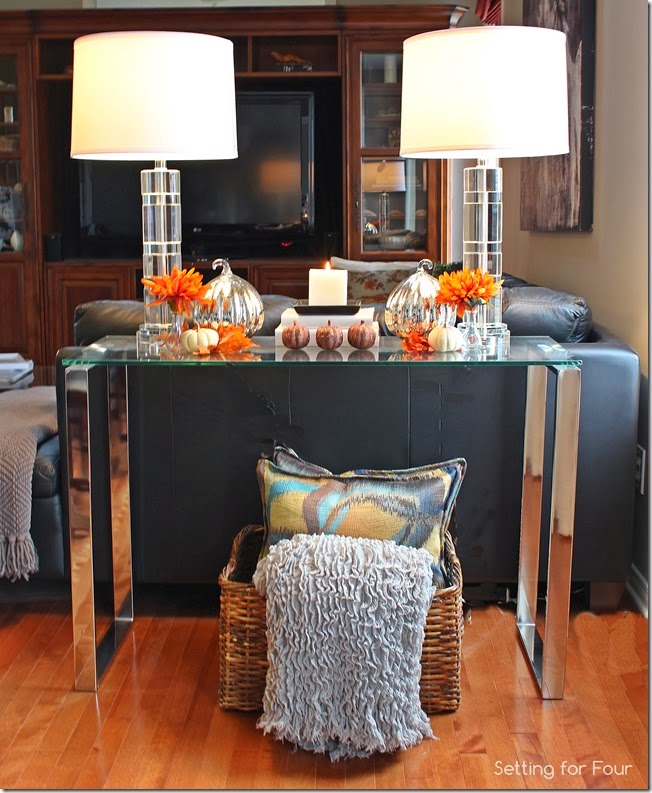 Decorate a Console table for Fall.