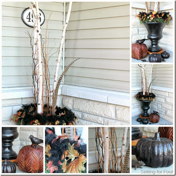 Decorate a Fall Urn - Setting for Four
