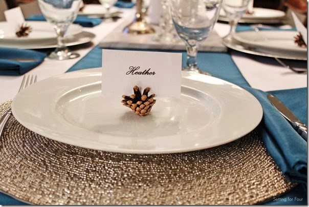 Easy DIY Pinecone Placecard Holders