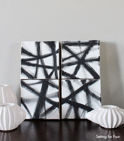 Easy DIY West Elm Inspired Art #diy #art