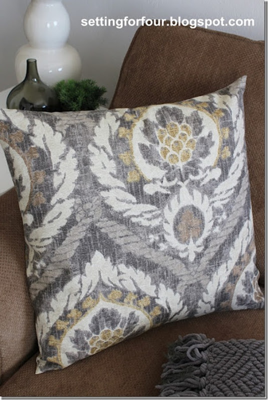 Easy and Fast DIY Ballard Inspired Pillow Cover
