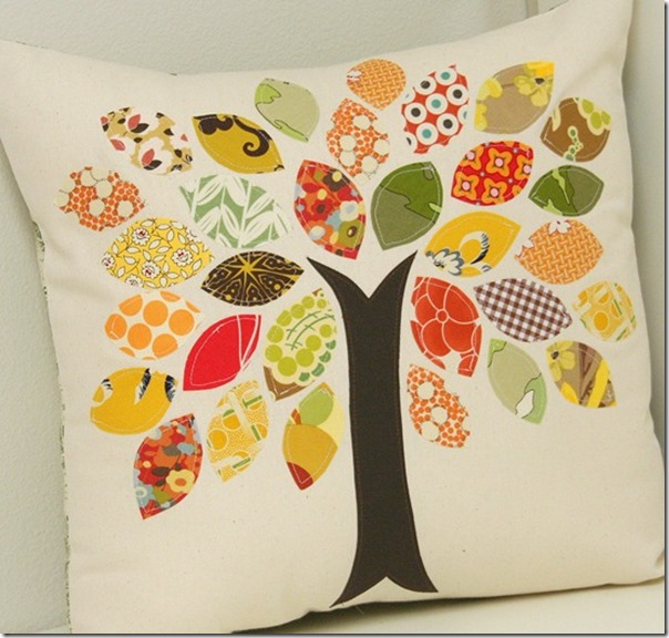 Fabric Scrap Tree Pillow