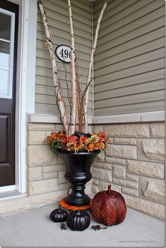 Fall Entryway vignette from Setting for Four