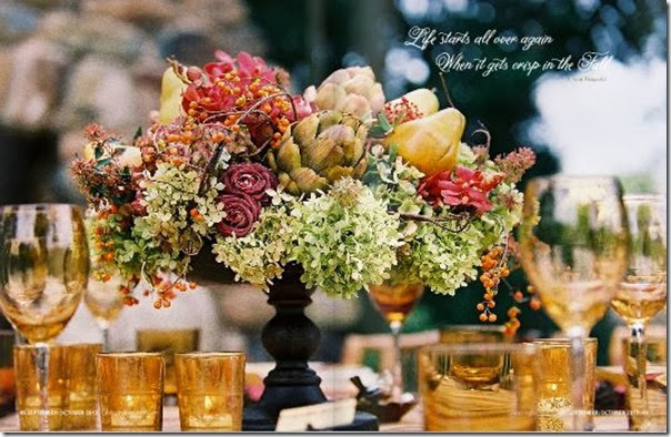 Fall Floral Centerpiece Celebrating Everyday Life Magazine