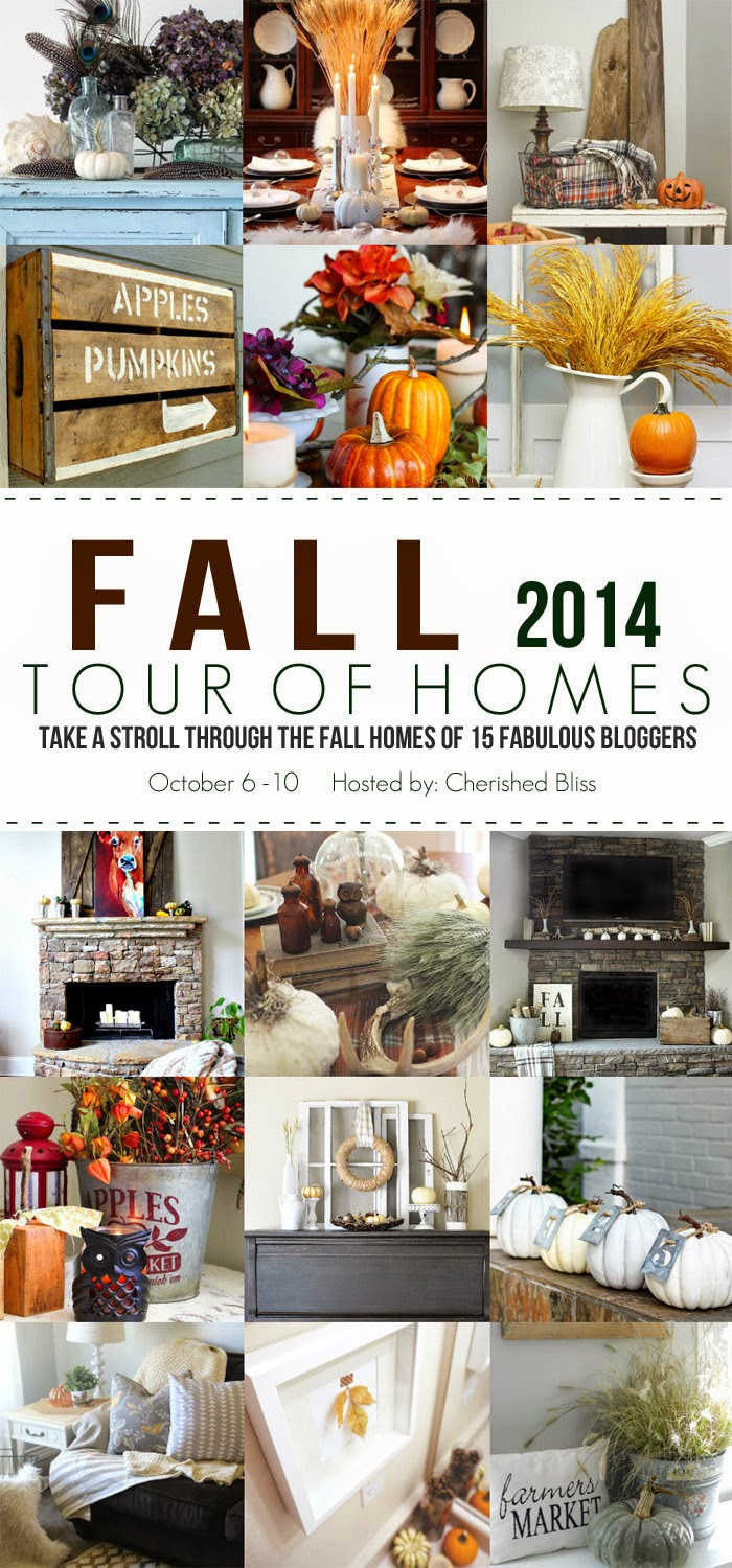 See 15 Gorgeous Fall Home Tours for lots of decorating tips and ideas!   www.settingforofour.com
