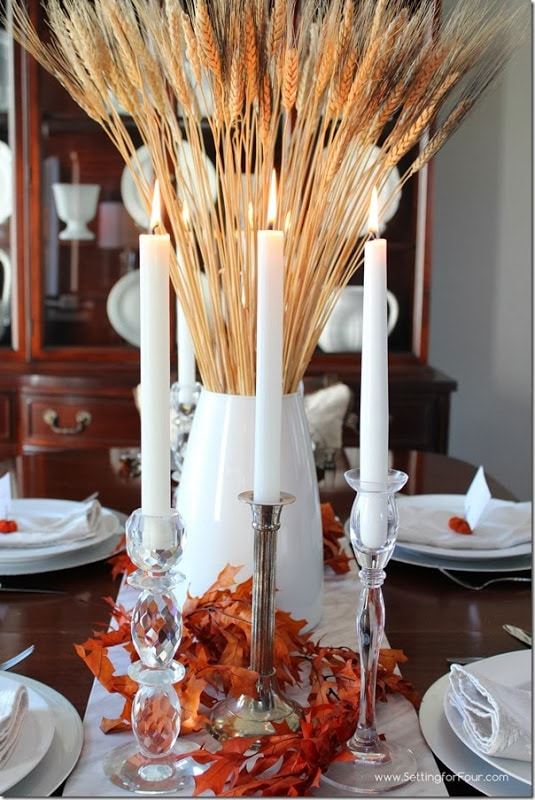 Fall Tablescape Setting for Four