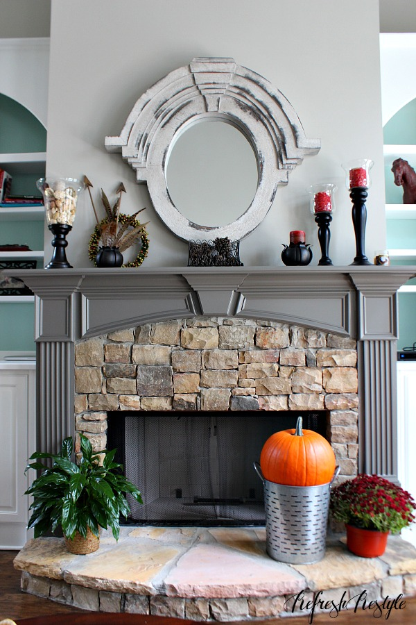 Fall Mantel and Home tour