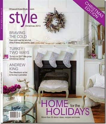 Featured in Ottawa Citizen Style Magazine 2013