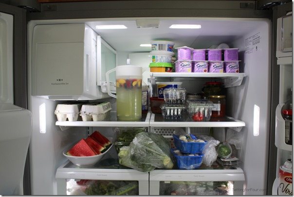 Flip up Shelf holds tall containers from Setting for Four