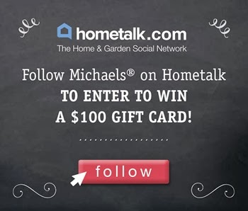Follow Michaels on Hometalk enter to win a $100 gift card