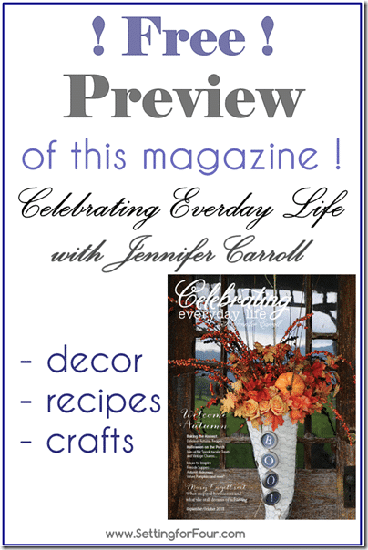 Free Preview of magazine Celebrating Everyday Life from Setting for Four