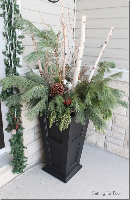 Front Entryway Holiday Urn
