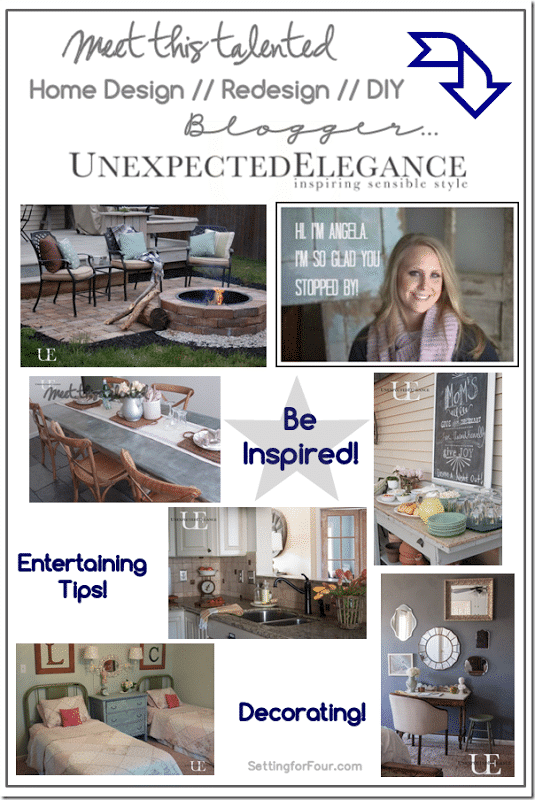 Home Design and DIY Blogger, Unexpected Elegance Guest Post at Setting for Four