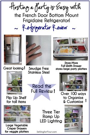 Hosting a Party is Easy with Frigidaire from Setting for Four