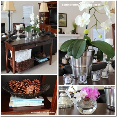 How to Decorate a Sofa Table