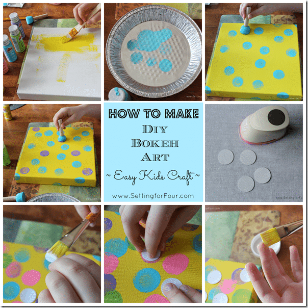 How to Make DIY Abstract Art with kids from Setting for Four